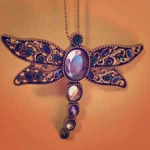 Jewelry - crystal dragonfly pendant necklace