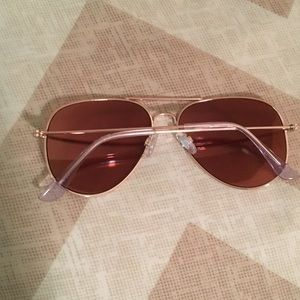 BP rose gold aviators