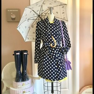 Forever 21 light weight polka dots trench coat