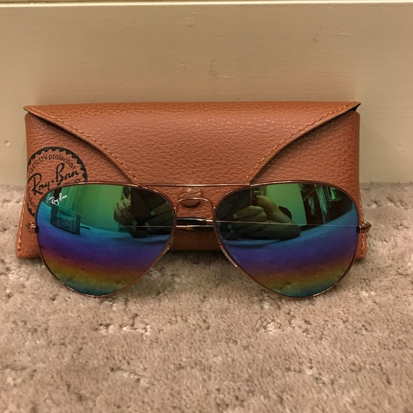671507cc7b Ray-Ban rainbow mirror aviator sunglasses