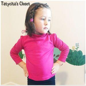 Pink Turtleneck long sleeves shirt 3T