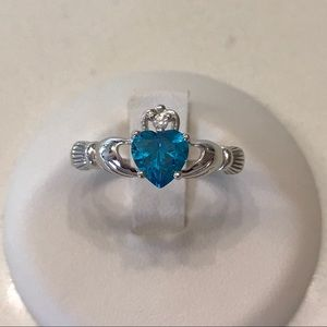 Jewelry - Sterling Silver Blue Topaz CZ Ring