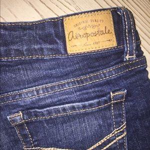 Aeropostale Shorts - Aéropostale denim shorts; size 00 (midrise)