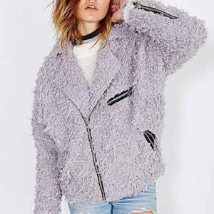Urban Outfitters X UNIF Lavender Sherpa Jacket M
