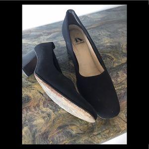 💎Black stack heel shoes