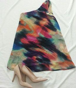 ASOS Watercolor one shoulder Dress