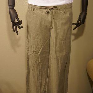 Light green linen pants