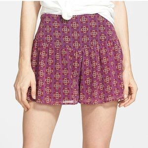 Band of Gypsies geo print pleated shorts
