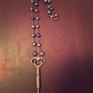 Jewelry - Key 🔑 to my heart ❤️ necklace with hematite beads