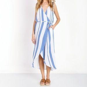 Faithful the Brand - striped wrap dress.