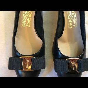Salvadore Ferragamo new black loafers