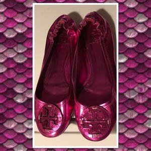 Rare Tory Burch Metallic Pink Revas