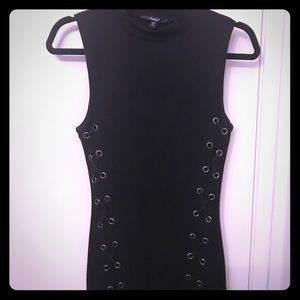 Black dress with rivets size Large