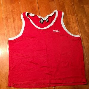 Great condition DKNY Red w/gray trim
