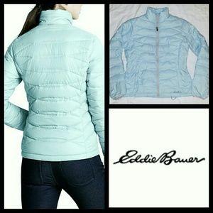 Eddie Bauer Boundary Pass down jacket light blue S