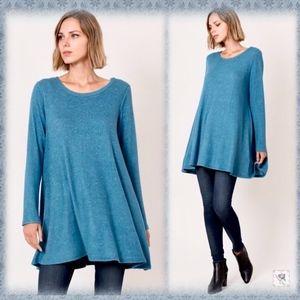 Soft sweater knit tunic