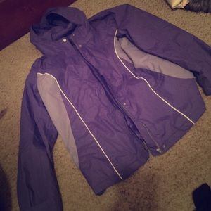 Jackets & Blazers - Purple rain coat