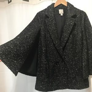 Halogen double breast cape jacket