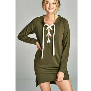 Dresses & Skirts - Olive sweatshirt dress