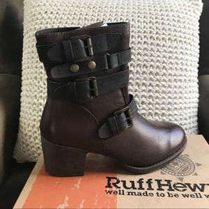 Ruff Hewn Thayer Buckled Booties NWT