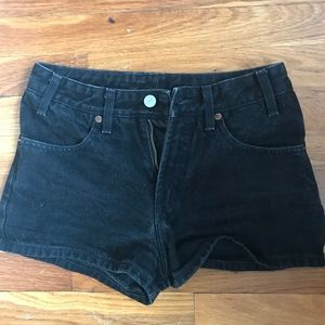 Vintage Bongo black denim high waisted shorts!