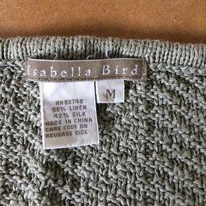 Isabella Bird (Territory Ahead) Sweaters - Sage green Isabella Bird Linen/Silk Sweater