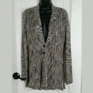 Nic + Zoe Sweater Womens Long Sleeve Cotton MED