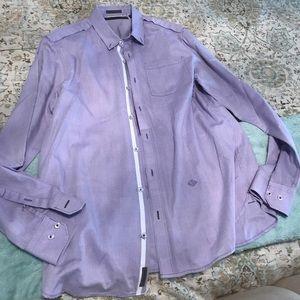 Men's Sean John Purple Button Down Shirt