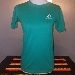 Vintage Bright Turquoise shirt Small