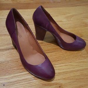 Madewell Frankie Leather Pump Orchid Purple