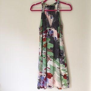 Silk Watercolor Dress