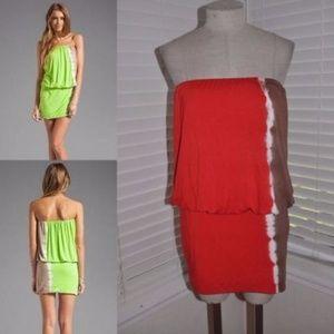 YOUNG FABULOUS & BROKE Freya Tie-Dye Mini Dress