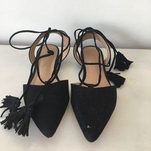 Asos Shoes - Lace Up Tassel Flats