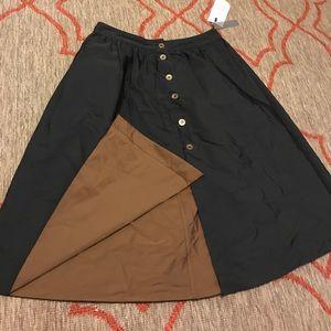 NEW! Black AND Brown REVERSIBLE ZARA Skirt!