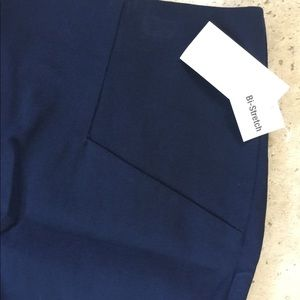 Metaphor Missy Bi Stretch Navy Blue Pencil Skirt