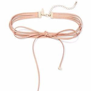 Jewelry - NEW Light pink tie necklace choker