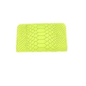 Gigi New York Wallet Green Embossed Python