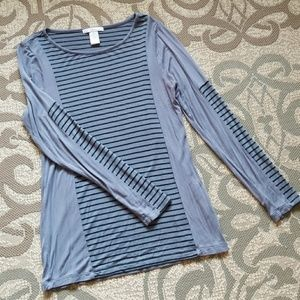 Solid and Stripe Knit Top