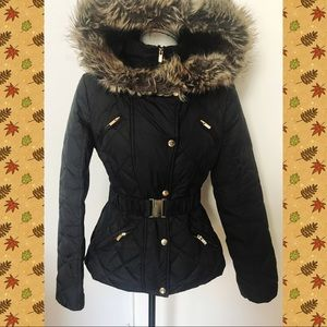 Express Quilted Jacket w/belt