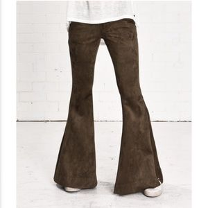 ONE TEASPOON Faux Suede stretchy Flares