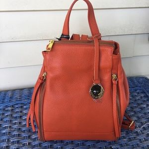 NWT Laura Di Maggio Orange BackPack