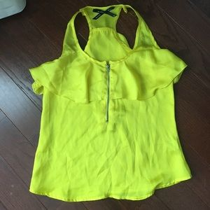 Ali & Kris yellow silk top