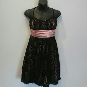 HOMECOMING/ prom Adorable SATIN/lace DRESS