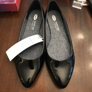 Dr. Scholl's Patent Leather Pointed Toe Flats WIDE