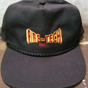 0cfc8925ccd ... Fire-Tech vintage Hat Snapback Cap Black ...