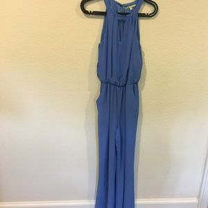 Gianni Bini blue key hole jumpsuit