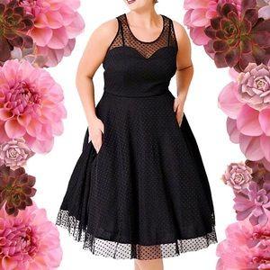 "Dresses & Skirts - HP💐Regular/Plus ""Marilyn"" Polka Lace Dress,4-22W"