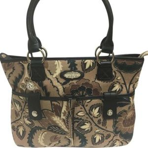Spartina 449 printed tote satchel linen