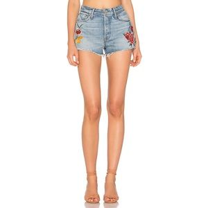 NWT GRLFRND Cindy Embroidered Short in Rising Sun