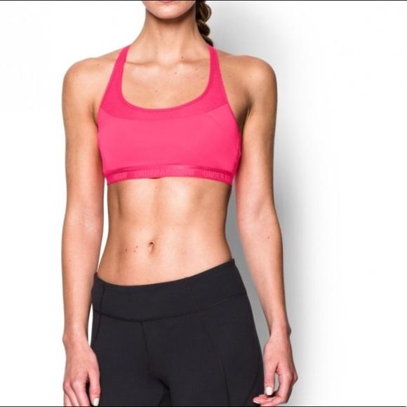 Under Armour pink Armour Breathe sports bra • nwot.  M 59bc09d2eaf03006a702c115 fb2fe175a